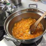 Let's cooking!!あんずジャム・シロップ漬けづくり体験始まりました。