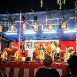 地域おこし協力隊 戸倉上山田温泉夏祭りに冠着太鼓で参加しました